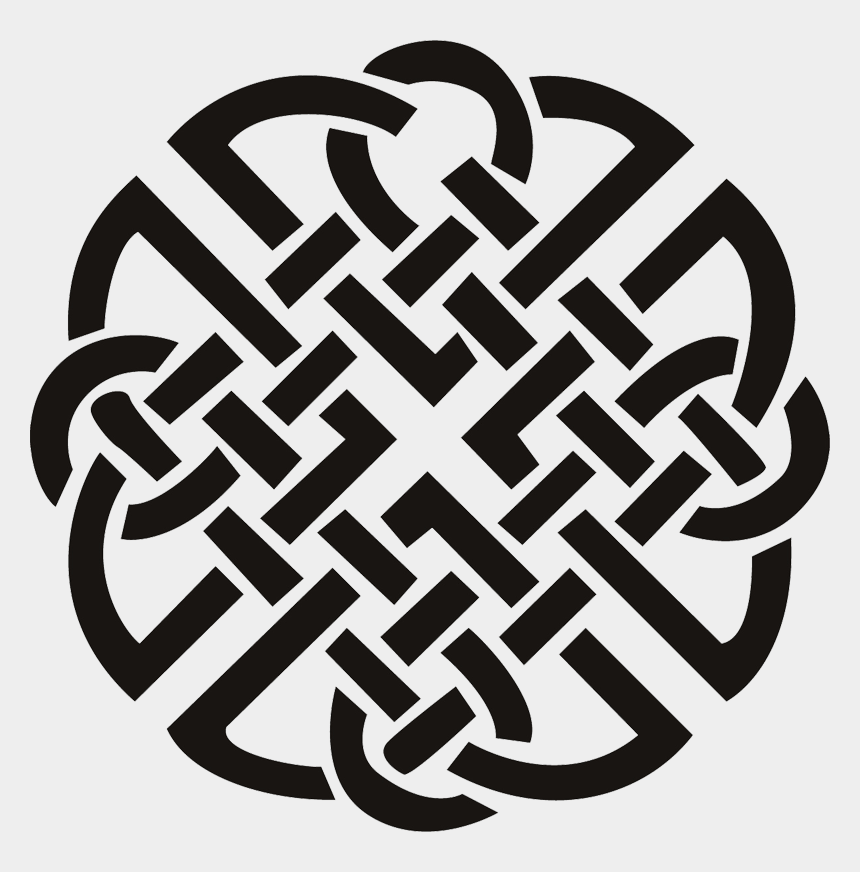 mandala clipart black and white, Cartoons - Celtic Knot Mandala - Celtic Knot Tattoo Chest