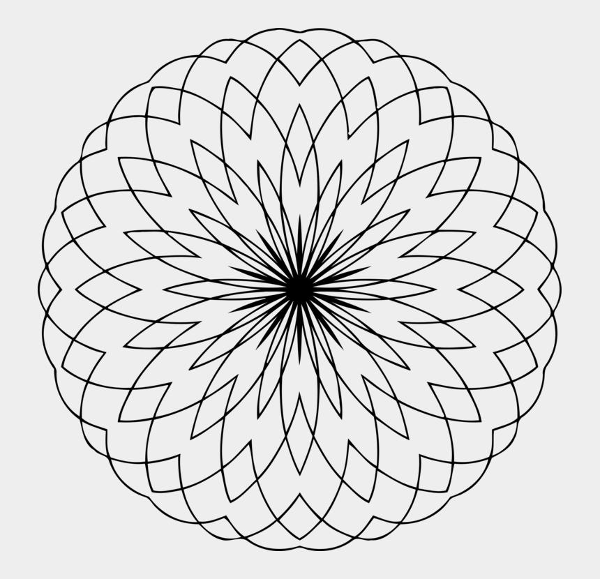 Overlapping Circles Grid Mandala Sacred Geometry - Line Art