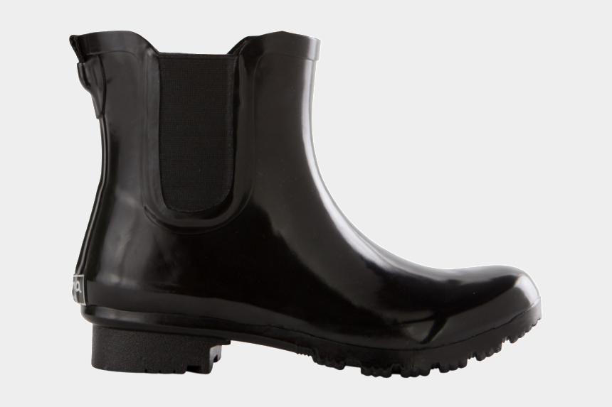 rain boots clipart black and white, Cartoons - Roma Chelsea Black - Chelsea Boot