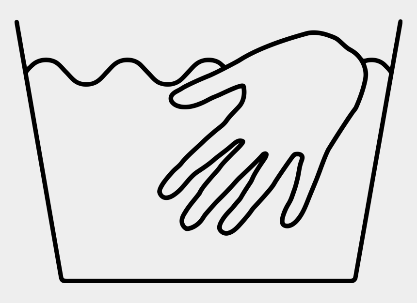 laundry clipart black and white, Cartoons - Wash Drawing Hand - Hand Wash Only Symbol