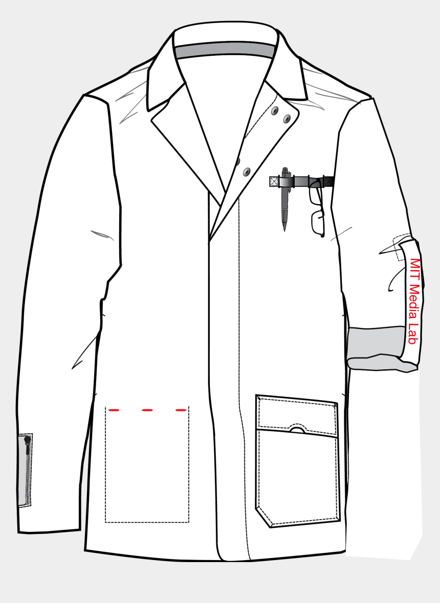 coat clipart black and white, Cartoons - Drawing A Lab Coat