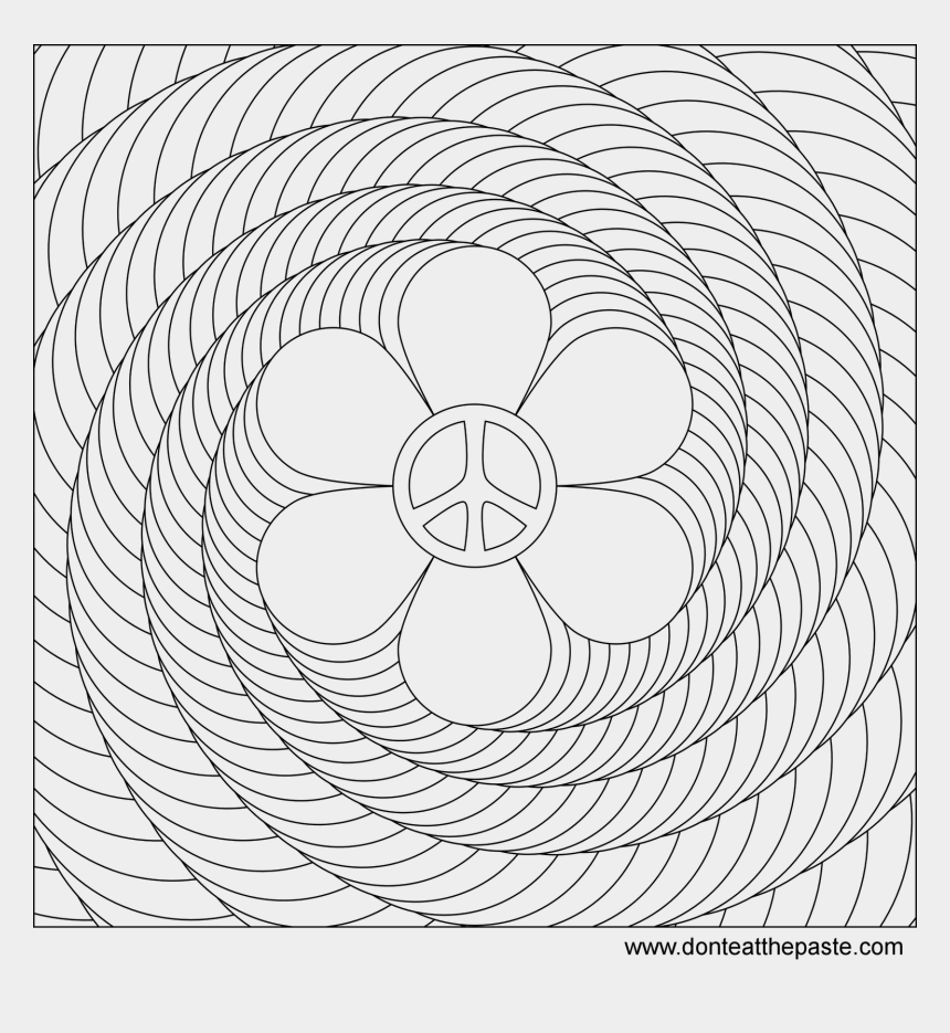 kids bath time clipart, Cartoons - Flower Power Spiral Coloring Page Flower Power, Spiral - Easy Design Coloring Pages