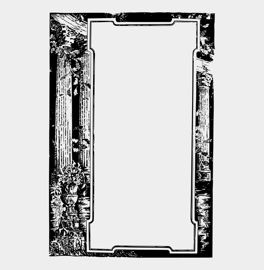 greek temple clipart, Cartoons - Roman Vector Frame - Old Roman Frame
