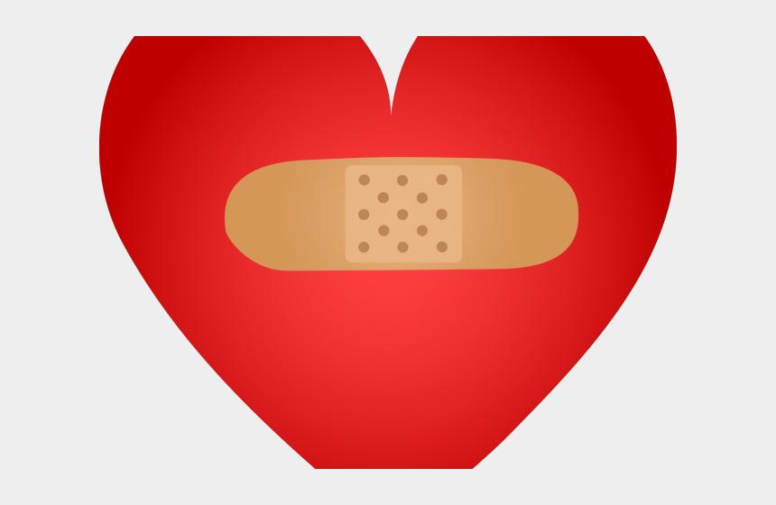 band-aid clipart, Cartoons - Broken Heart Clipart Bandaid Clipart - Illustration
