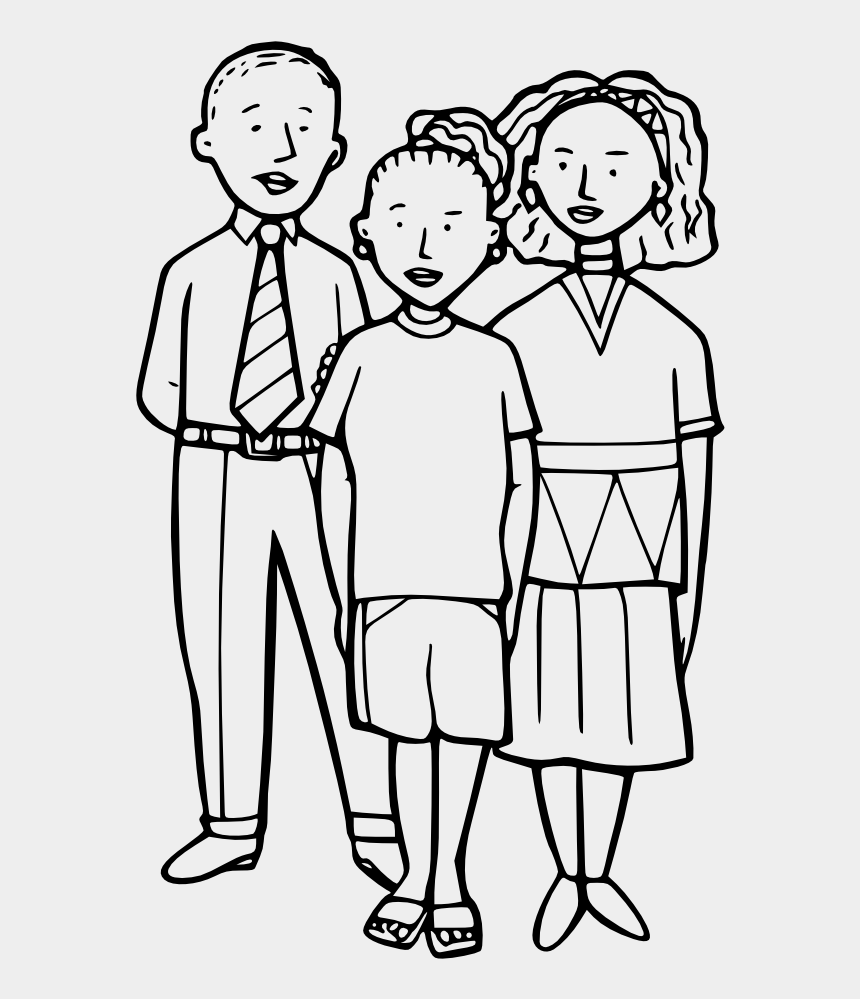 Family Clipart Black And White 3 People Cliparts Cartoons Jing Fm