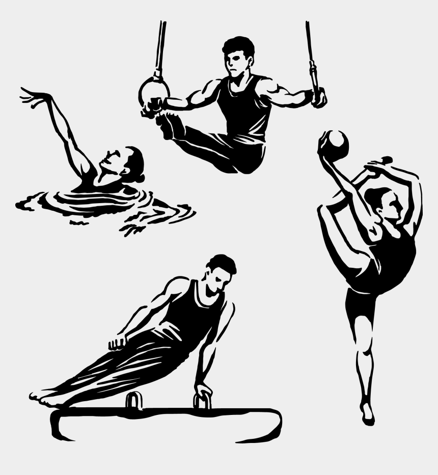 olympic clipart, Cartoons - Olympic Games Clipart Sporty Person - Summer Olympic Games