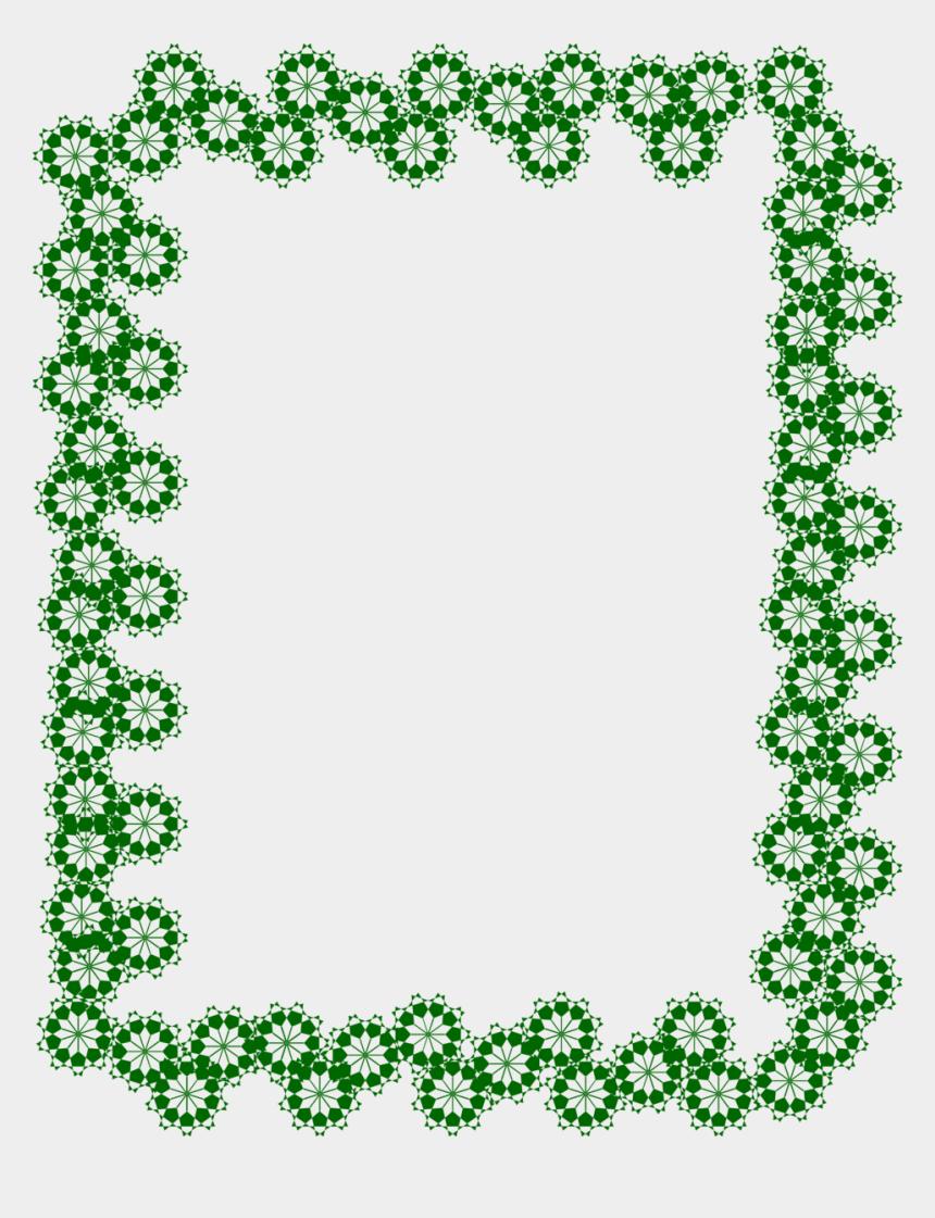 squats clipart, Cartoons - Green Border Frame Transparent Image - Green Borders And Frames
