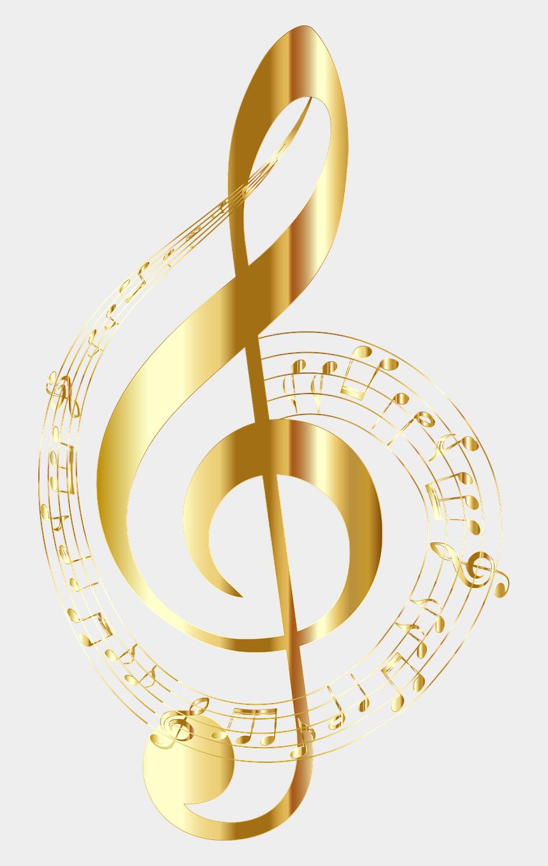 treble clef clipart, Cartoons - Gold Music Note , Png Download - Clave De Sol Png