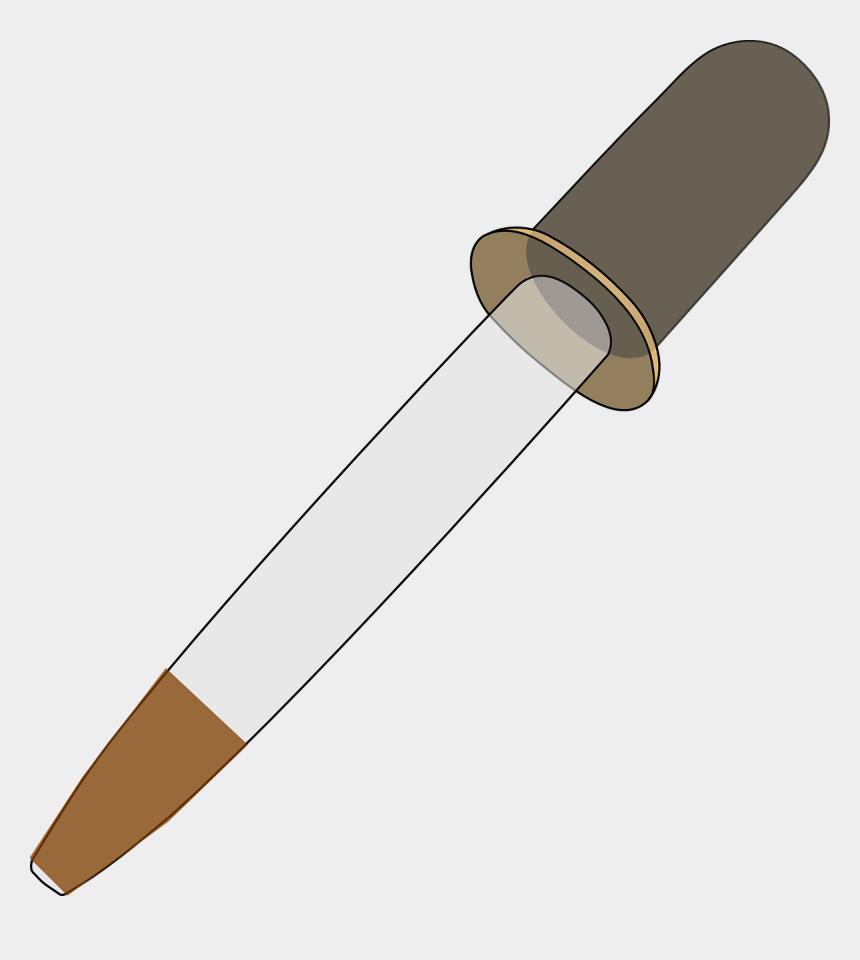 medicine cliparts, Cartoons - Brown Filled Medicine Dropper Clip Art At Clker - Dropper Uses In Laboratory