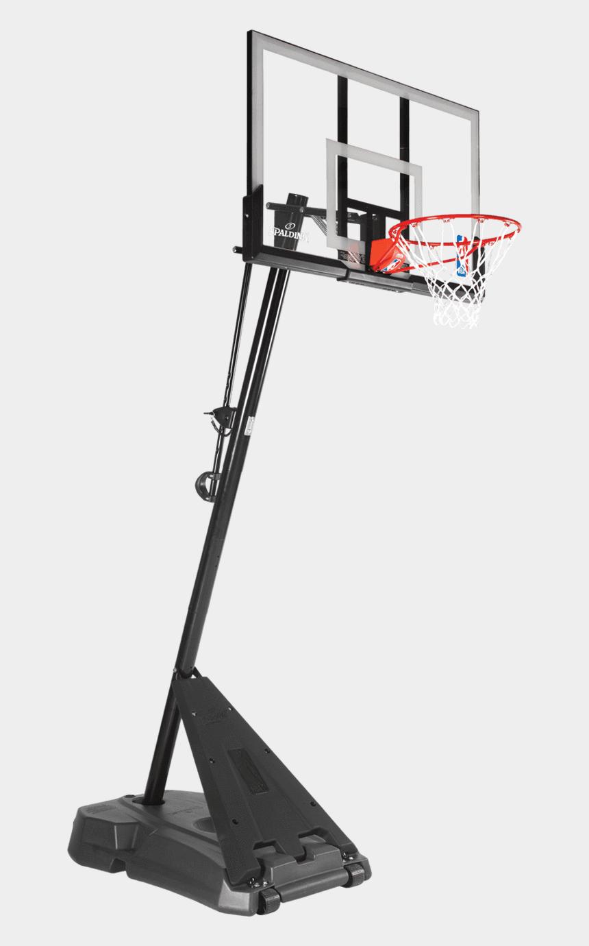 basketball backboard clipart black and white, Cartoons - Basketball Hoop Png - Spalding Hercules Acrylic Portable Basketball System