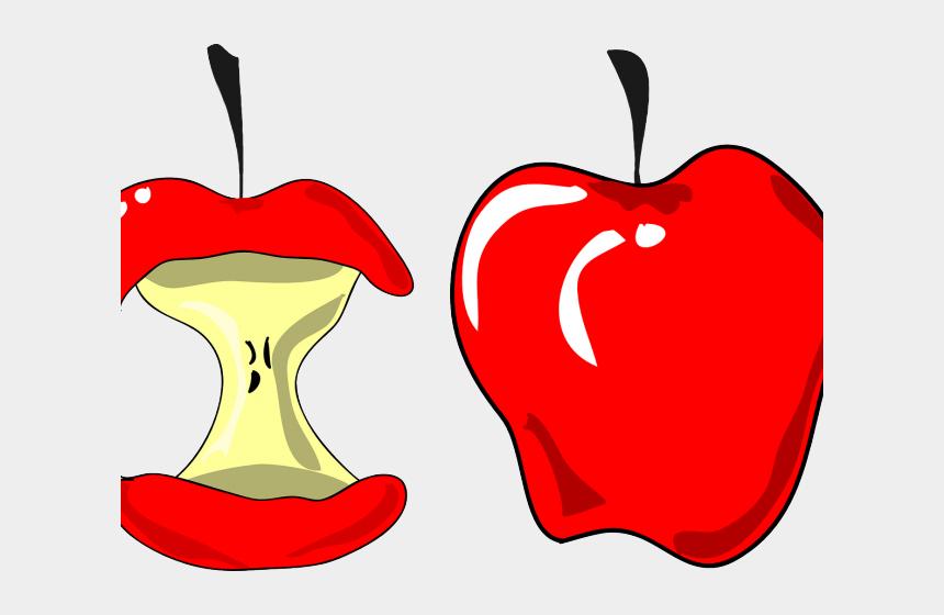 rotten apple clipart, Cartoons - Transparent Apple Cliparts - Apple Eaten Clip Art