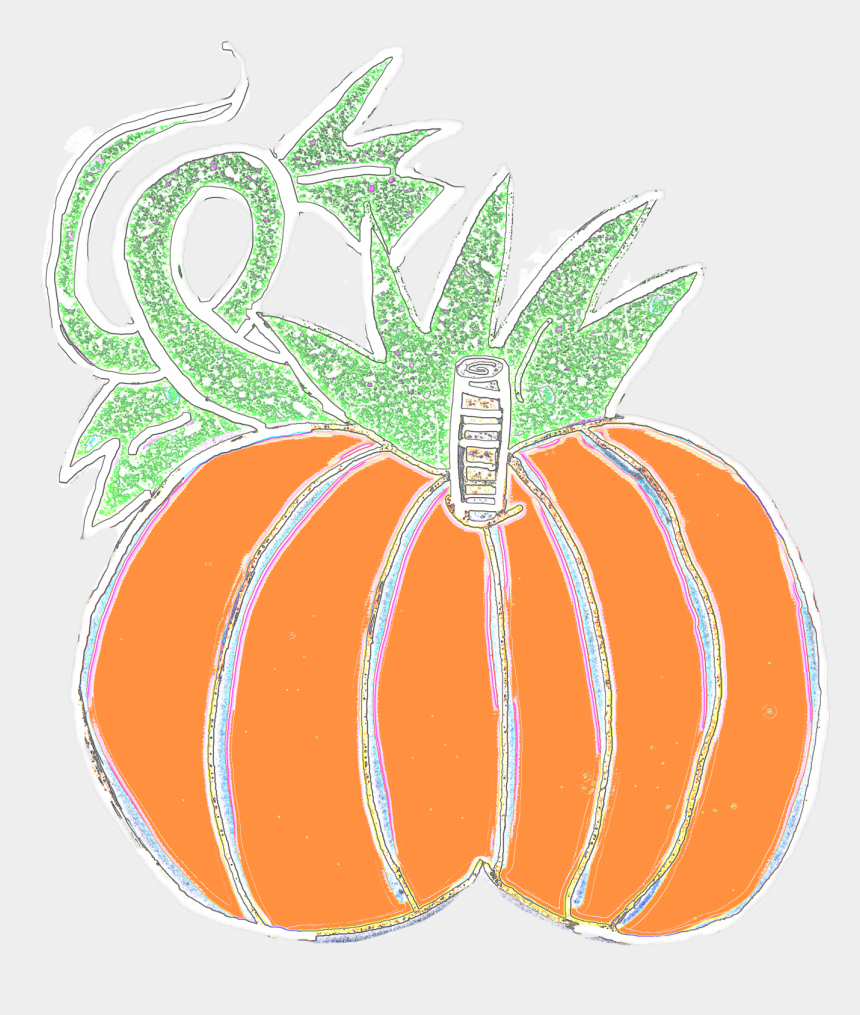 pumpkin vines clipart, Cartoons - Chubby Pumpkins With Vine To Left And Large Leaf To - Pumpkin