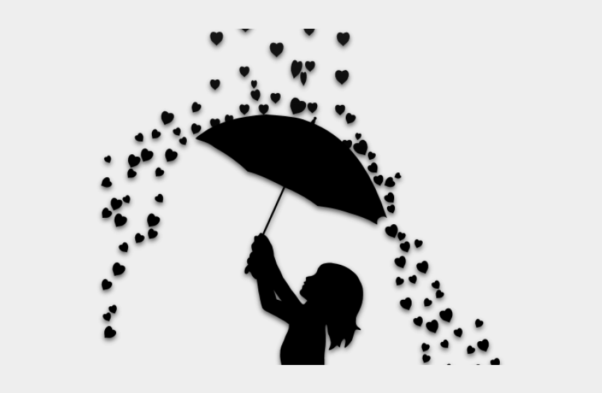 Silhouette Art Drawing Of A Girl With An Umbrella Silhouette Cliparts Cartoons Jing Fm