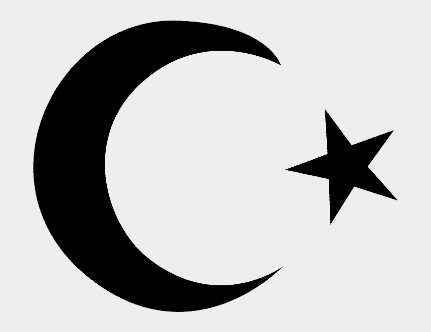 moon and stars clipart black and white, Cartoons - Islam Clipart Moon Stars - Islam Star And Moon