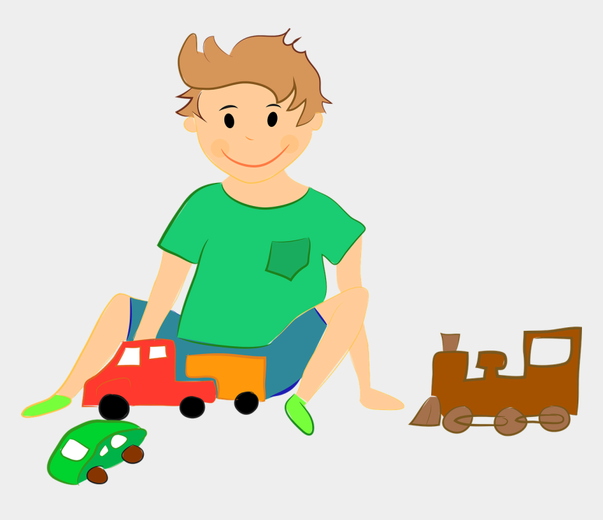 kids playing together clipart, Cartoons - Play Clipart Little Kid - Boy Playing With Toys Clipart