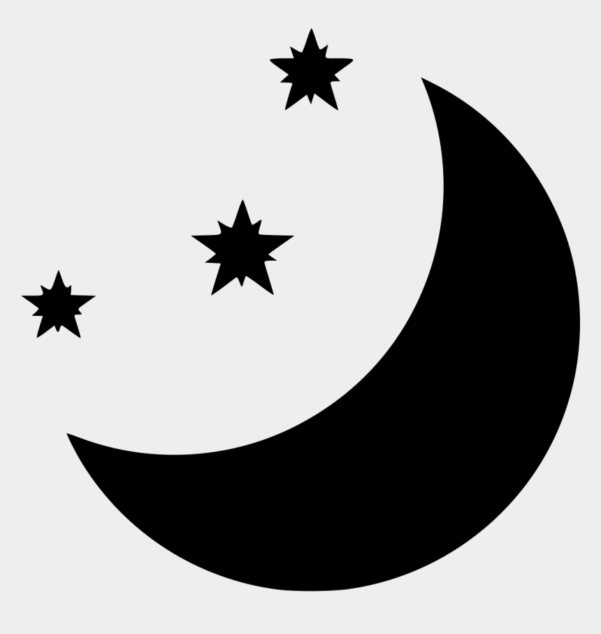 moon and stars clipart black and white, Cartoons - Moon And Stars Comments - Emblem