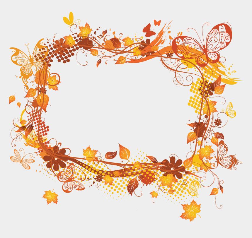 fall flower clipart, Cartoons - Frames Picture Autumn Flower Frame Hq Image Free Png - Frames Transparent