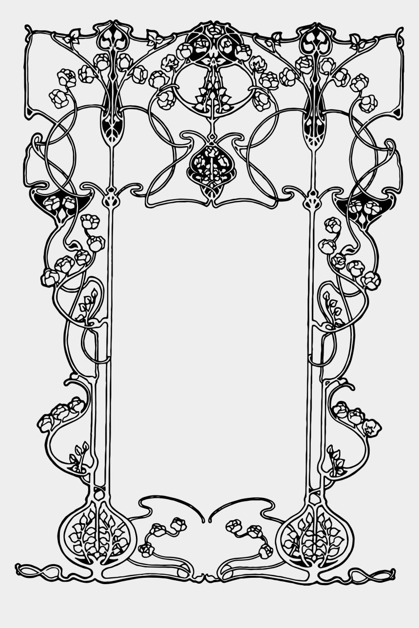 art deco clipart, Cartoons - Pin By Elyssanda Desertsong On Art Deco/ Art Nouveau - Art Nouveau Patterns Border