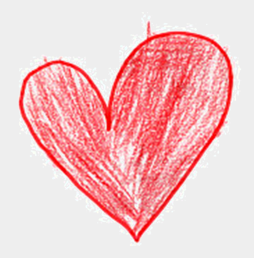 hands holding heart clipart, Cartoons - Crayon Heart Clipart - Child's Drawing Of A Heart