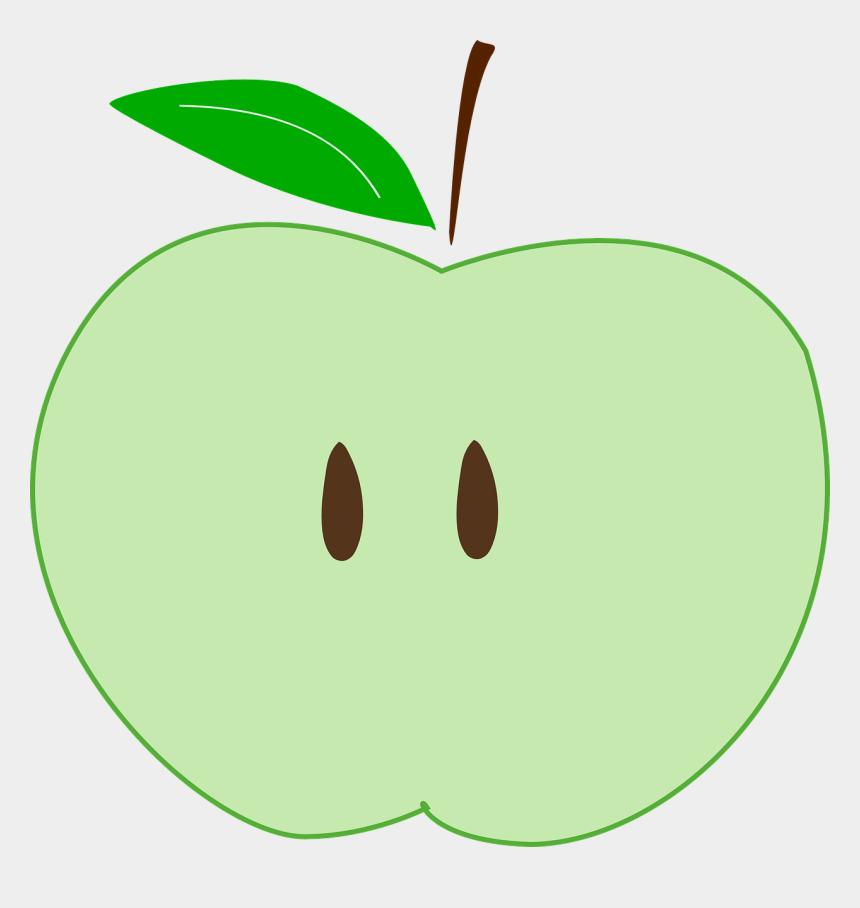 apple seeds clipart, Cartoons - Green Apple Slice Fruit Seeds Healthy - Clip Art