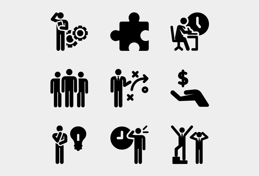person working clipart, Cartoons - Working Vector Human - Skills Icon For Resume