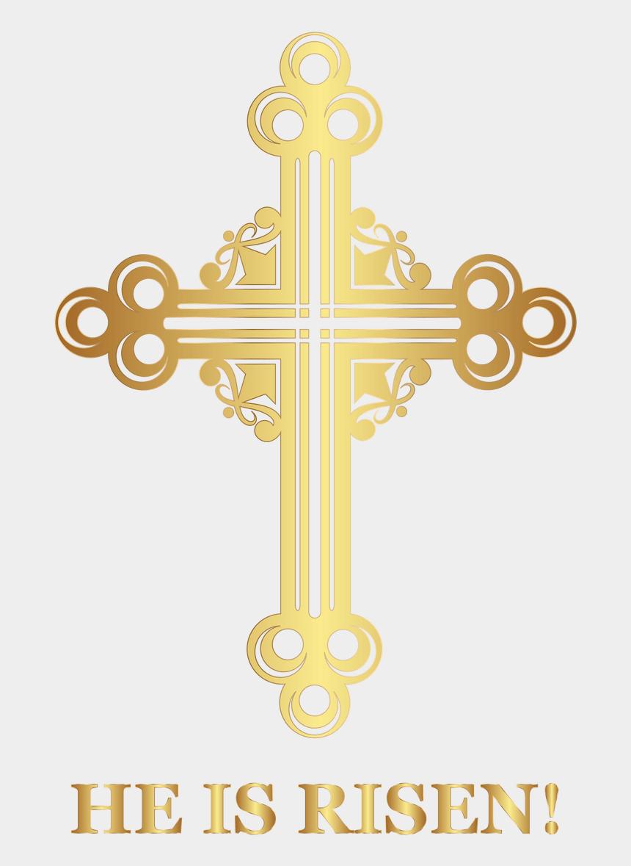 christ is risen clipart, Cartoons - Crucifix Clipart Easter - Transparent Easter Cross Clipart