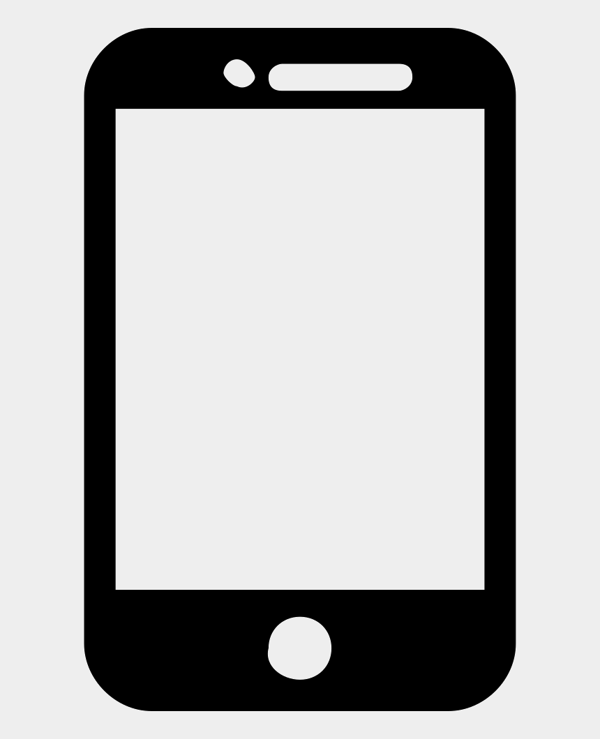 smartphone clipart black and white, Cartoons - Mobile Phone Model Comments - Silhouette Of A Smartphone