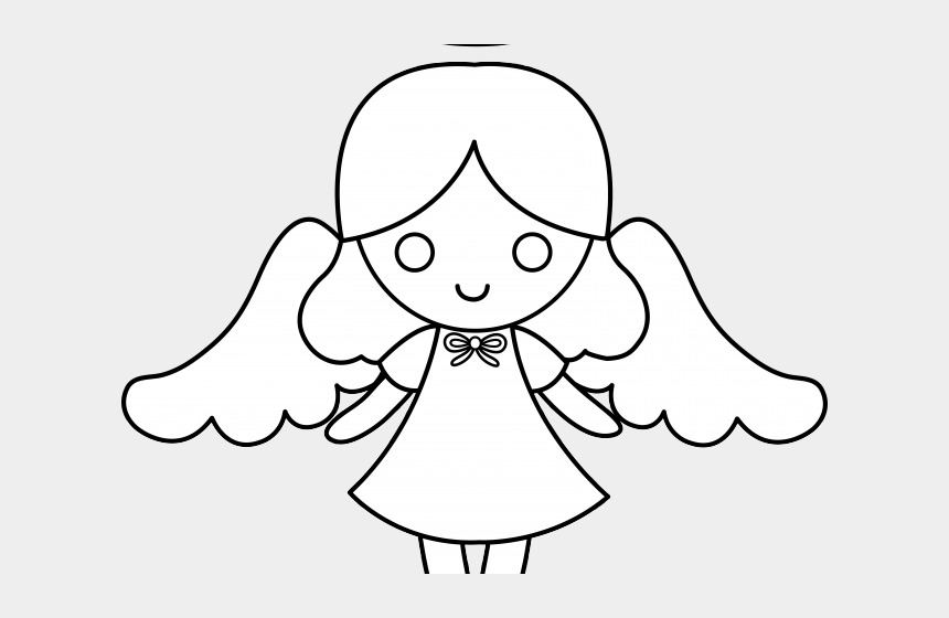 angel wings clipart black and white, Cartoons - Glowing Halo Clipart Angel Halo - Cute Easy Angel Drawing