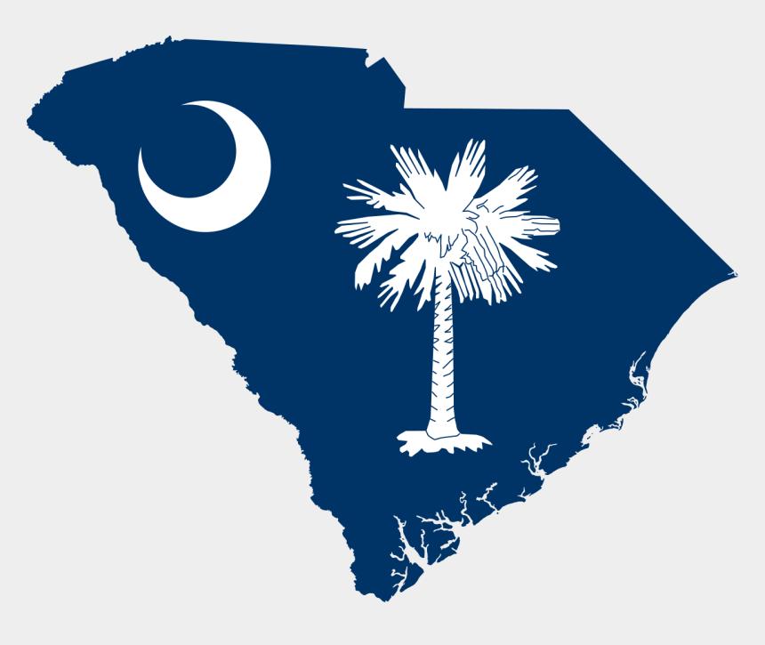 south clipart, Cartoons - South Carolina Clip Art - South Carolina State Flag Map