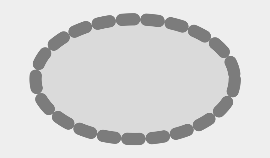 bead clipart, Cartoons - Bracelet Vector Bead - Ellipse Dashed Line Png