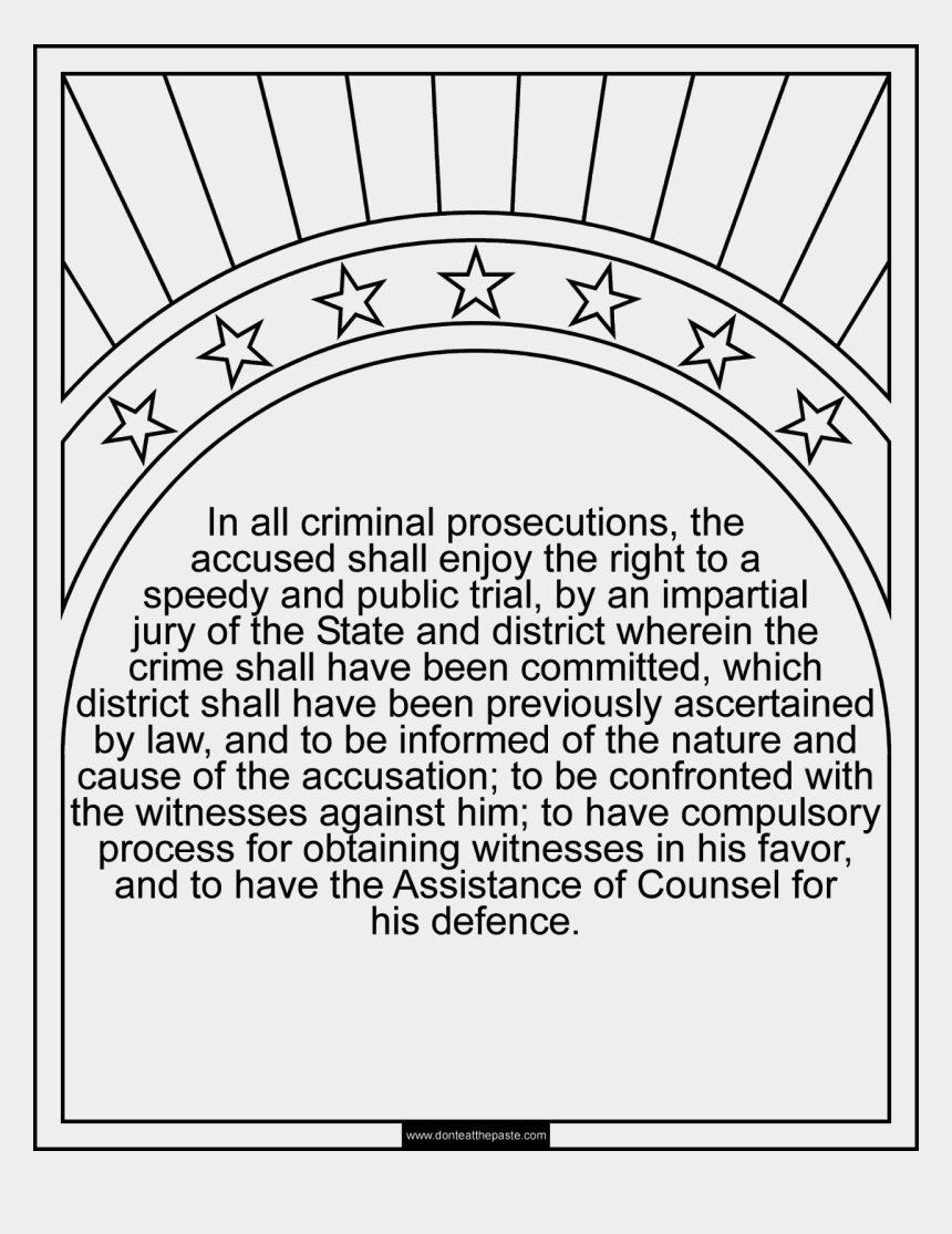 6th amendment clipart, Cartoons - 6th Amendment Coloring Page Available In Jpg And Transparent - First Amendment Coloring Pages