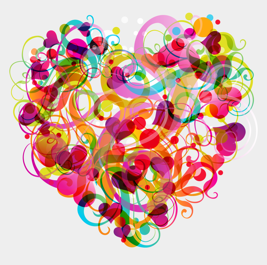 Abstract Colorful Heart Png Clipart Colorful Heart