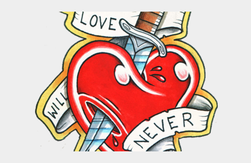 lever clipart, Cartoons - Love Tattoo Clipart Love Quote - Hearts And Daggers Tattoo