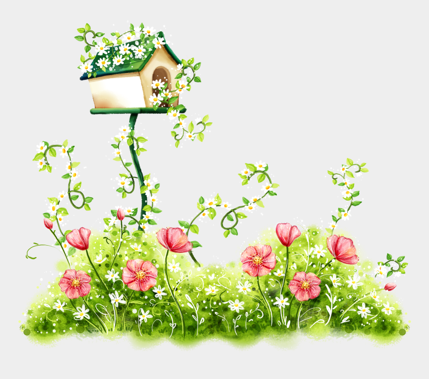 clipart of flowers, Cartoons - Flowers Flower Wallpaper Hand-painted Download Free - Congratulations New Home Card