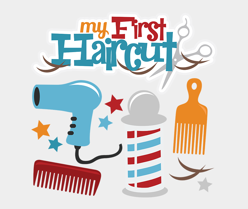 baby's first christmas clipart, Cartoons - My First Haircut Svg Cut Files For Scrabpooking Haircut - First Hair Cut