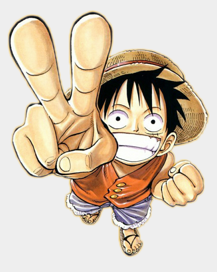 one finger clipart, Cartoons - One Sticker - One Piece Luffy Transparent Background