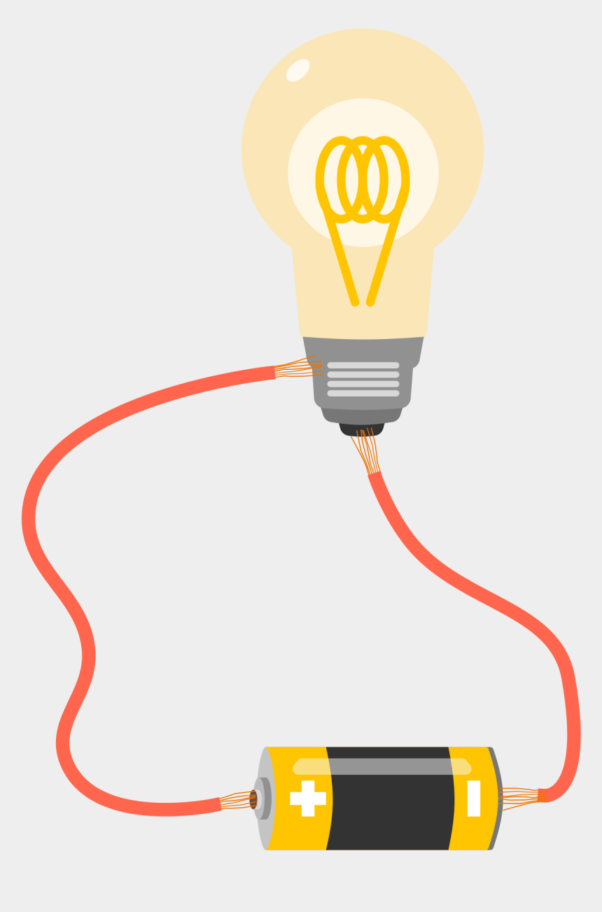wires clipart, Cartoons - Electrical Wire Png - Light A Light Bulb With Battery And Wire
