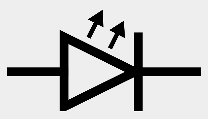 wires clipart, Cartoons - Led Schematic Symbol Schematic ~ Send104blarge Size - Led Light Emitting Diode Symbol
