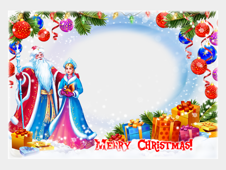 christmas frames clipart, Cartoons - Merry Christmas Frame Png Clipart Desktop Wallpaper - Merry Christmas Photo Frame Png