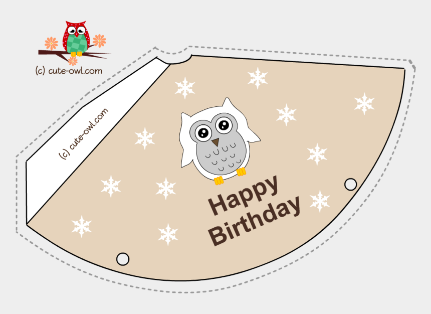 party hats clipart, Cartoons - Free Printable Snowy Owl Birthday Party Hats - Happy Birthday Cards