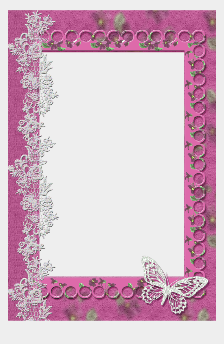 butterflies clipart border, Cartoons - Lace Clipart Butterfly - Background Transparent Butterfly Border