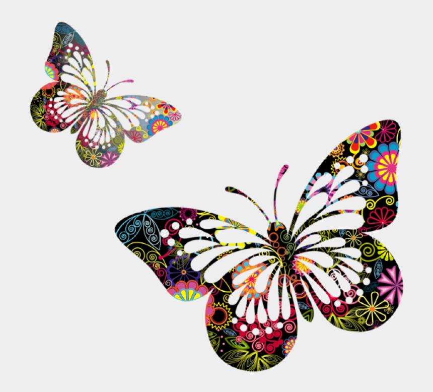 butterflies clipart border, Cartoons - Butterflies Vector Png - Butterfly And Flower Vector Png