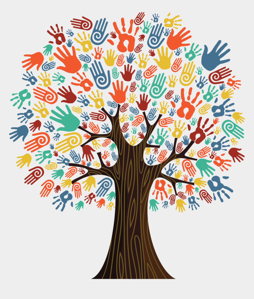 changing clipart, Cartoons - Research Shows That Chronic, Severe Stressors In Childhood - Tree With Hands As Leaves