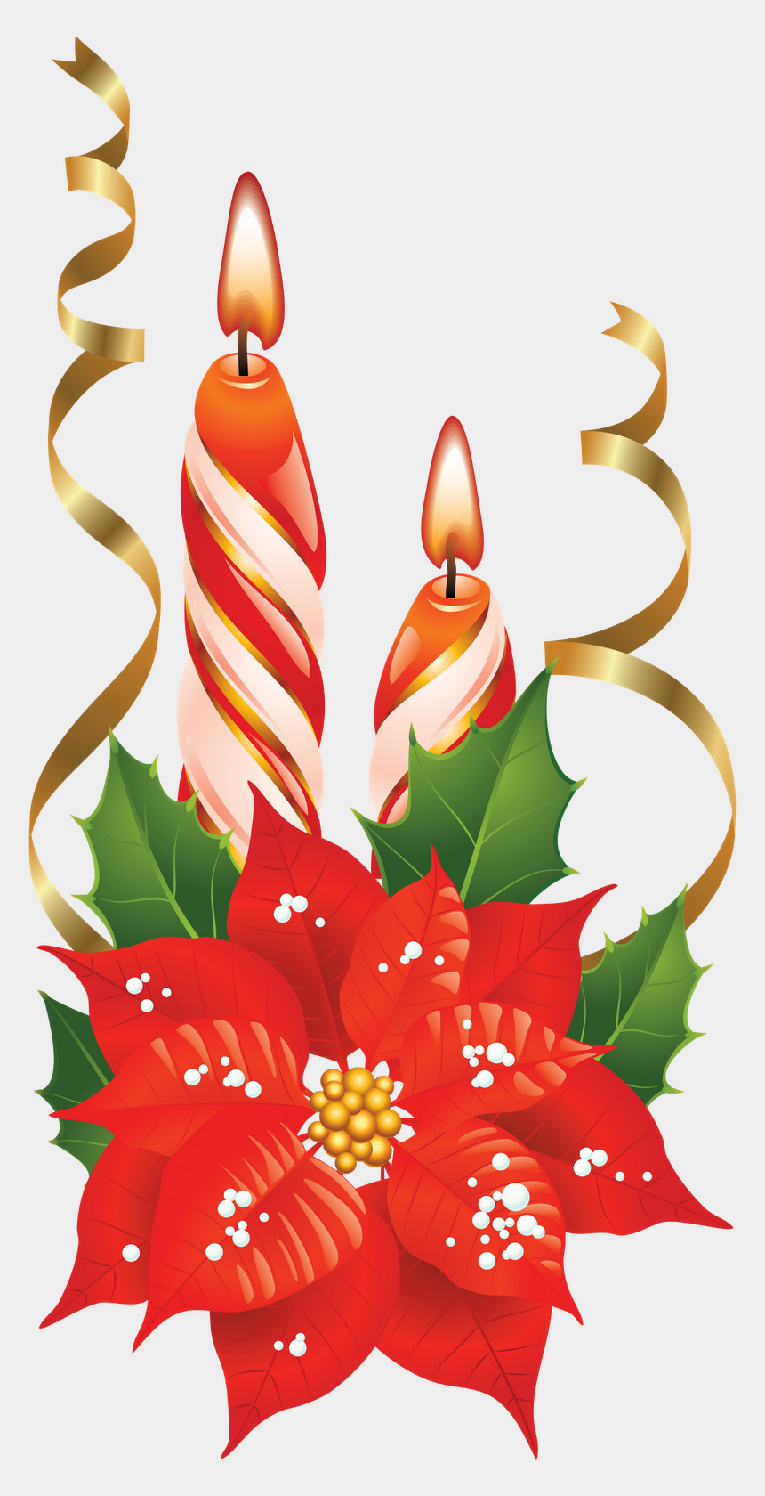 christmas candles clipart, Cartoons - Christmas Poinsettia Flower Png