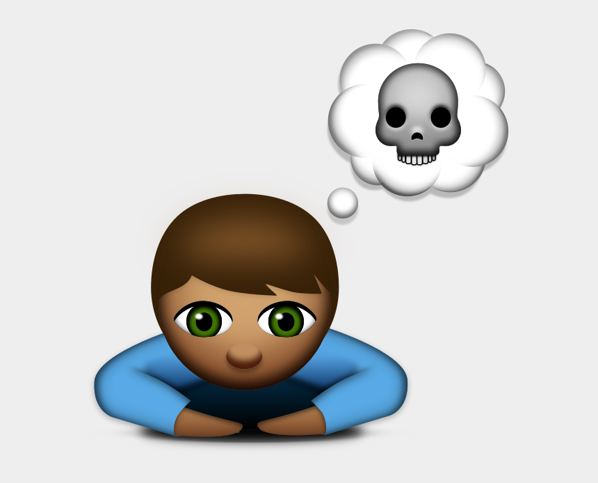 discuss clipart, Cartoons - Sad Child Png - Thinking Of Suicide Emoji