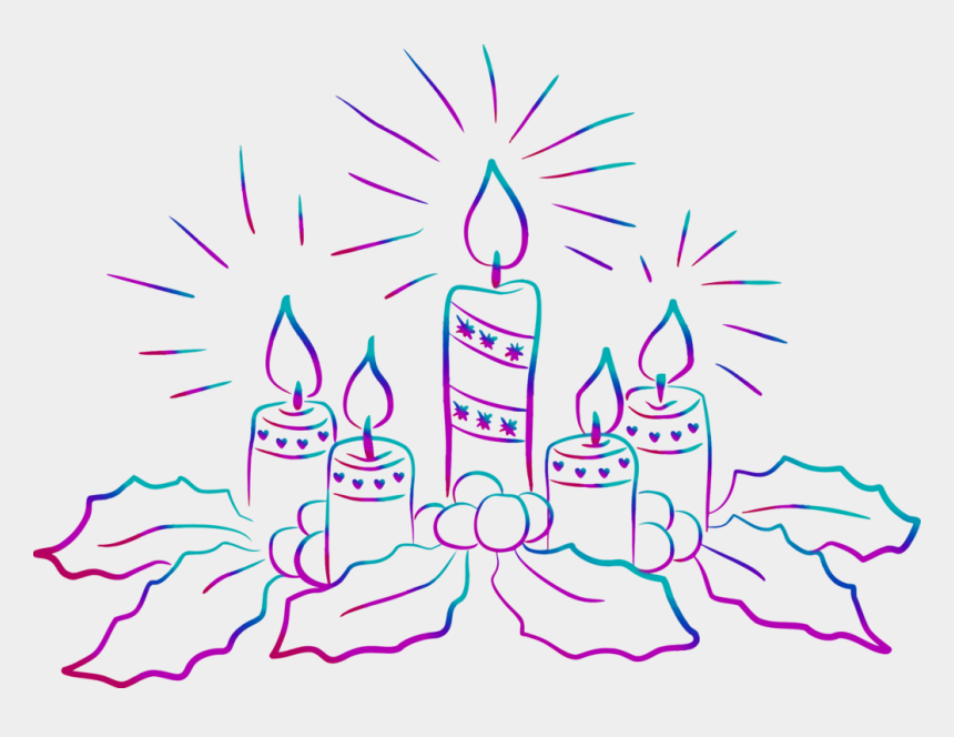 christmas candles clipart, Cartoons - Christmas Candles For Drawing
