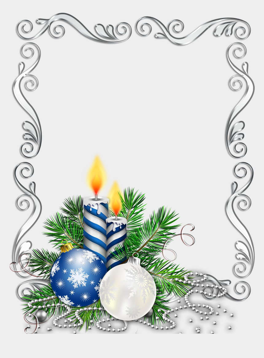 christmas candles clipart, Cartoons - Candle Clipart Blue Christmas - Blue And Silver Christmas Transparent