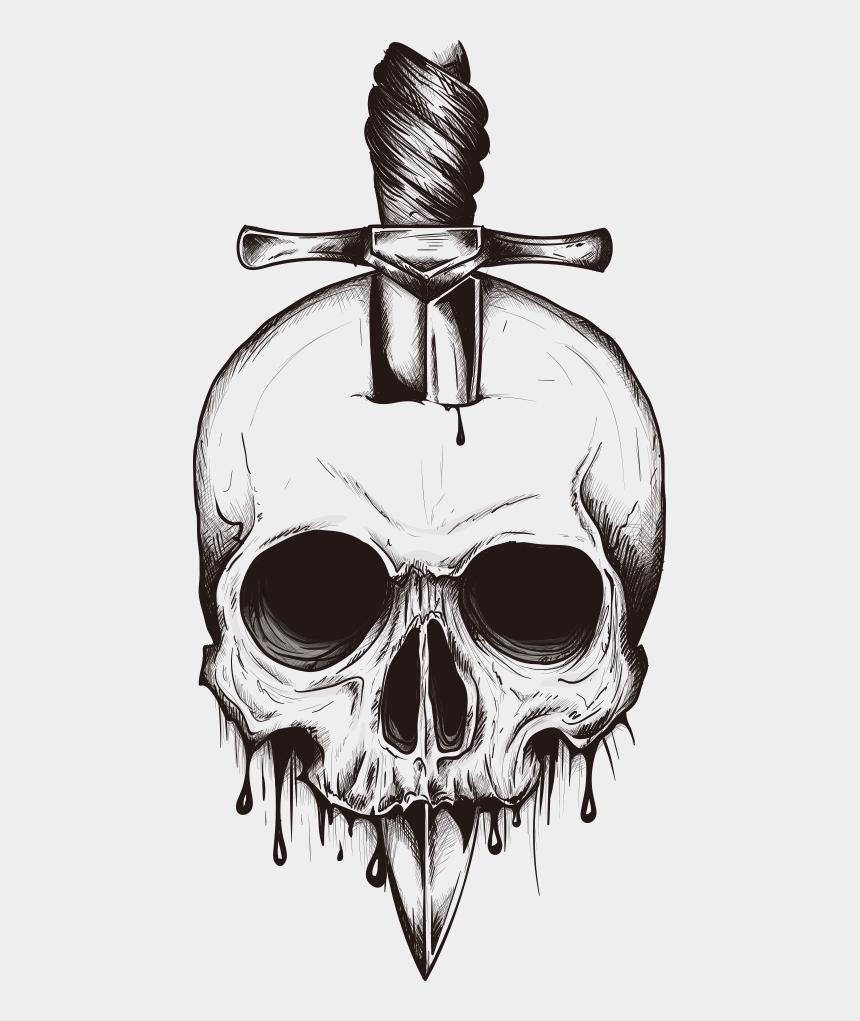 black sword clipart, Cartoons - Skull Euclidean Vector Sword In The Inserted - Simple Skull Tattoo Designs