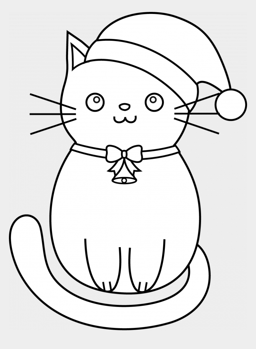 Kitty Clipart Christmas Cute Cartoon Easy Draw Cats Cliparts