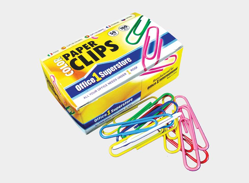 office supplies clipart, Cartoons - O S Color Paper Clips Mm Pcs Ⓒ - 1 Box Of Paper Clip